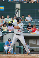 Frederick Keys catcher Austin Wynns (26) in action during a game against the Myrtle Beach Pelicans at Ticketreturn.com Field at Pelicans Ballpark on May 21, 2015 in Myrtle Beach, South Carolina.  Frederick defeated Myrtle Beach 4-3. (Robert Gurganus/Four Seam Images)