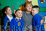 Bernie O'Brien, Tralee, pictured with her three grandchildren, Aoife O'Shea, Lincoln Coffey and Cayden Ward O'Brien, at grandparents day, CBS Primary School, Tralee on Wednesday morning last.