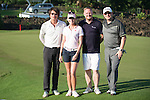 (L-R) Chris Yu, Paula Creamer, David May, Markus Manninen during the World Celebrity Pro-Am 2016 Mission Hills China Golf Tournament on 22 October 2016, in Haikou, China. Photo by Marcio Machado / Power Sport Images