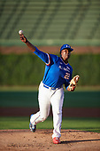 Kumar Rocker (22) of North Oconee High School in Watkinsville, Georgia delivers a pitch during the Under Armour All-American Game presented by Baseball Factory on July 29, 2017 at Wrigley Field in Chicago, Illinois.  (Mike Janes/Four Seam Images)