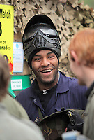 Pictured: Kemy Agustien. Tuesday 25 January 2011<br /> Re: Swansea City FC footballers and staff have spend a morning at Teamforce Paintball in Llangyfelach near Swansea south Wales.
