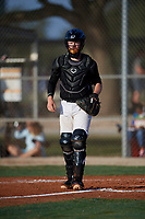 Logan Poteet (62) during the WWBA World Championship at Lee County Player Development Complex on October 8, 2020 in Fort Myers, Florida.  Logan Poteet, a resident of Powell, Tennessee who attends Powell High School, is committed to Vanderbilt.  (Mike Janes/Four Seam Images)