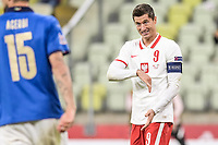 11.10.2020 GDANSK PILKA NOZNA - LIGA NARODOW UEFA MECZ GRUPY A POLSKA - WLOCHY Football - UEFA Nations League group A match Poland - Italy N/Z ROBERT LEWANDOWSKI SYLWETKA FOT MATEUSZ SLODKOWSKI / FOTONEWS / NEWSPIX.PL --- Newspix.pl PUBLICATIONxNOTxINxPOL 20201011FNMS154<br /> Danzica Nations League Gruppo A Polonia Italia Football - UEFA Nations League group A match Poland - Italy <br /> ITALY ONLY