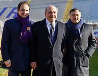 ACF Fiorentina president Rocco Commisso (C), his son Joseph (L) and Joe Barone (R) pose for a picture prior to the Italy Cup round of 16 football match between ACF Fiorentina and FC Internazionale at Artemio Franchi stadium in Firenze (Italy), January 13th, 2021. Photo Andrea Staccioli / Insidefoto