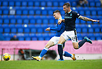St Johnstone v Dundee…02.10.21  McDiarmid Park.    SPFL<br />Glenn Middleton puts his shot wide<br />Picture by Graeme Hart.<br />Copyright Perthshire Picture Agency<br />Tel: 01738 623350  Mobile: 07990 594431