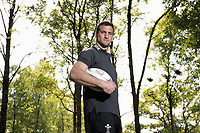 FAO DAILY MAIL SPORTS PICTURE DESK<br /> Interview with Welsh rugby player Sam Warburtonahead of the British Lions tour, Vale of Glamorgan Hotel, south Wales, UK. Tuesday 09 May 2017