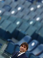 Football, Serie A: AS Roma -  FC Internazionale Milano, Olympic stadium, Rome, January 10, 2021. <br /> Inter's coach Antonio Conte looks on prior to the Italian Serie A football match between Roma and Inter at Rome's Olympic stadium, on January 10, 2021.  <br /> UPDATE IMAGES PRESS/Isabella Bonotto