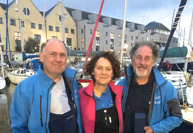 """""""Brains of the Bay"""": The Out of the Blue crew of Conor, Lisa and Fergal Lyons finished third overall in the King of the Bay Series, and it was also Fergal who proved to be the ace handicapper when establishing starting times for the phenomenal success of the Round Aran Pursuit Race in August."""