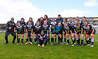 players of Aalst celebrates after winning a female soccer game between Eendracht Aalst and Sporting Charleroi on the 18 th and last matchday before the play offs of the 2020 - 2021 season of Belgian Scooore Womens Super League , Saturday 27 th of March 2021  in Aalst , Belgium . PHOTO SPORTPIX.BE | SPP | DAVID CATRY