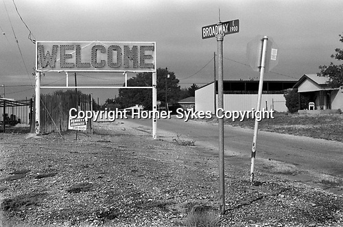 Sweetwater Texas, Welcome sign at the entrance to the small Texan town. 1999 1990s USA
