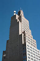 Kansas City:  Kansas City Power & Light Building, 1931.  Hoit, Price & Barnes.  Art Deco style. Limestone office tower, 36 stories . NRHP in 2002.