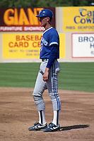 Toronto Blue Jays first baseman John Olerud during spring training circa 1991 at Charlotte County Stadium in Port Charlotte, Florida.  (MJA/Four Seam Images)