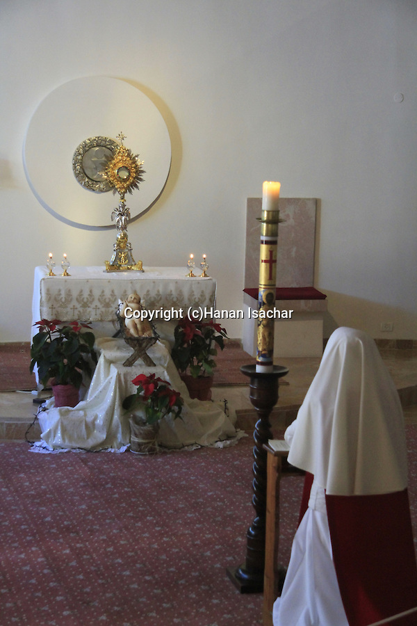 Bethlehem, a prayer at the Milk Grotto