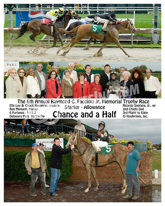 Chance and a Half winning at Delaware Park on 10/24/09