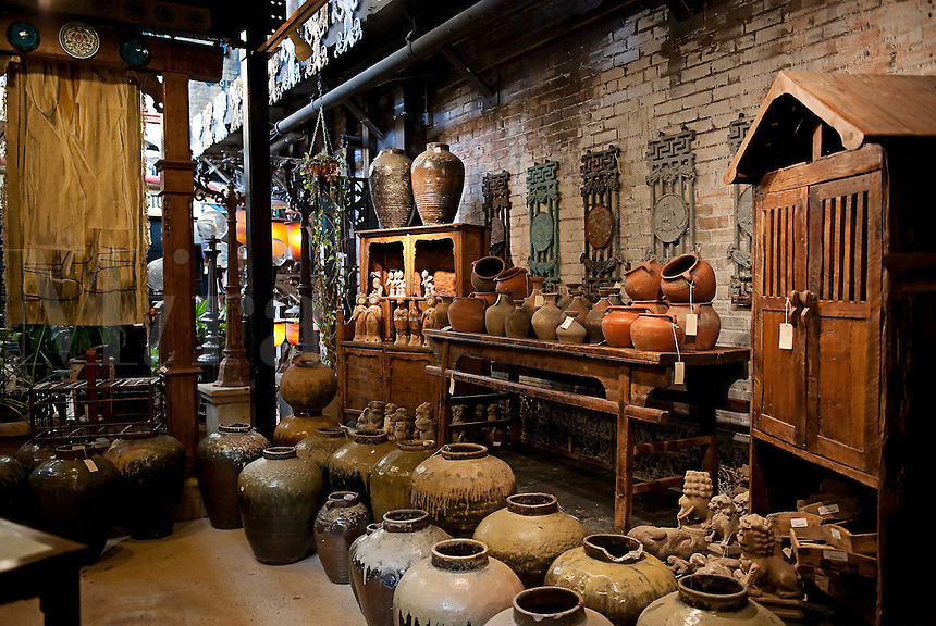 Imported asian and middle eastern antique showroom.