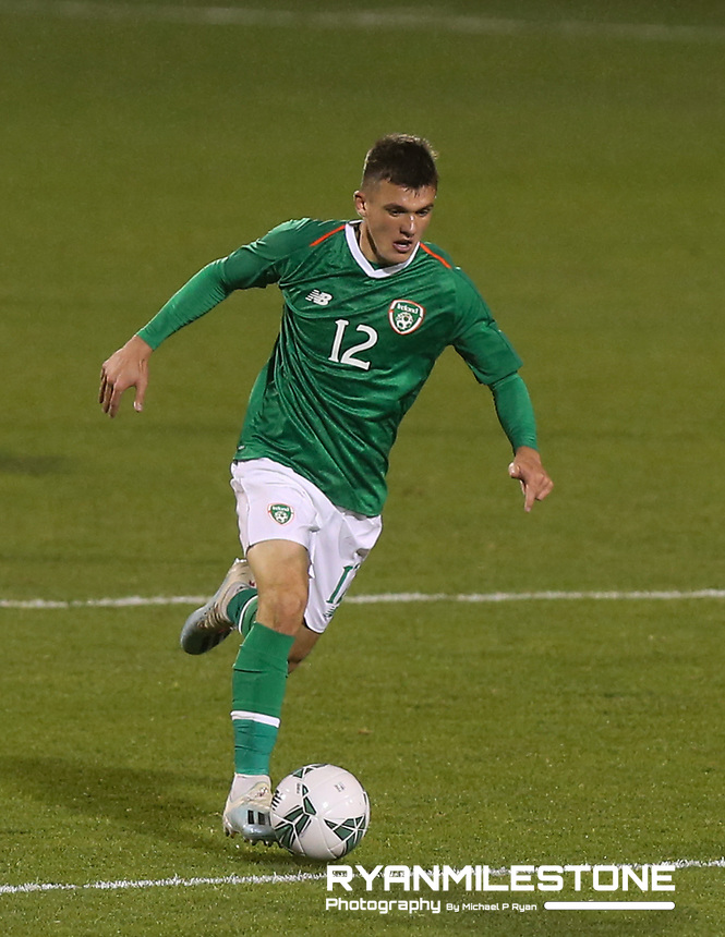 EVENT:<br /> UEFA European U21 Championship Qualifier Group 1 Republic of Ireland v Italy<br /> Thursday 10th October 2019,<br /> Tallaght Stadium, Dublin<br /> <br /> CAPTION:<br /> Jason Knight of Republic of Ireland<br /> <br /> Photo By: Michael P Ryan