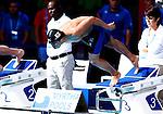 Akihiro Yamaguchi (JPN),<br /> JULY 28, 2013 - Swimming : Akihiro Yamaguchi of Japan starts in a heat of the Men's 100m breaststroke at the FINA Swimming World Championships in Barcelona, Spain.<br /> (Photo by Daisuke Nakashima/AFLO)