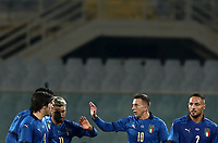 FBL- Friendly  football match Italy vs Estonia at the Artemio Franchi stadium in Florence on November 11, 2020.<br /> Italy's  Federico Bernardeschi (third left) celebrates after scoring with his teammates during the Italian Serie A football match between Lazio and Juventus at Olympic stadium in Rome, on November 8, 2020.<br /> UPDATE IMAGES PRESS/Isabella Bonotto