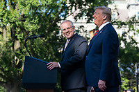 Australian Prime Minister Scott Morrison addresses his remarks at the official State Visit welcome ceremony Friday, Sept. 20, 2019, on the South Lawn of the White House. (Official White House Photo by Shealah Craighead)