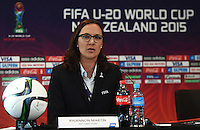 Auckland, NZ - May 28, 2015: FIFA Men's U-20 World Cup Press Conference at Sky City Grand Hotel.