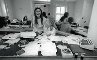 1981 FILE PHOTO<br /> New York City<br /> Carmen D'Alessio, Mark Fleischman<br /> Rebuilding of Studio 54<br /> Photo by Adam Scull-PHOTOlink.net