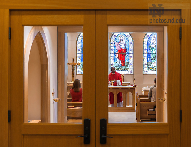 Apr. 13, 2016; Rev. Paulinus I. Odozor, C.S.Sp., an associate professor in the Department of Theology, celebrates noon Mass in the Stayer Center Chapel. (Photo by Matt Cashore/University of Notre Dame)