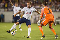 Orlando, FL - Saturday July 22, 2017: Harry Kane, Kevin Trapp during the International Champions Cup (ICC) match between the Tottenham Hotspurs and Paris Saint-Germain F.C. (PSG) at Camping World Stadium.