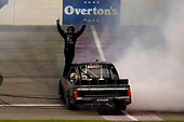 #16: Brett Moffitt, Hattori Racing Enterprises, Toyota Tundra celebrates his win