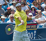 Juan Martin Del Potro (ARG) loses to John Isner, (USA), 6-7, 7-6, 6-3 at the Western & Southern Open in Mason, OH on August 17, 2013.