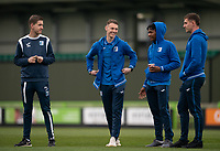 Barrow players and staff arrive during the Sky Bet League 2 match between Forest Green Rovers and Barrow at The New Lawn, Nailsworth on Tuesday 27th April 2021. (Credit: Prime Media Images I MI News)