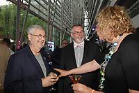 Michel Tremblay, Thierry Arnaud, Michelle Blanc  au Gala Phenicia 2018, le jeudi 31 mai 2018, au Parquet de la Caisse de Depot et Placements du Quebec<br /> <br /> PHOTO : Agence Quebec Presse