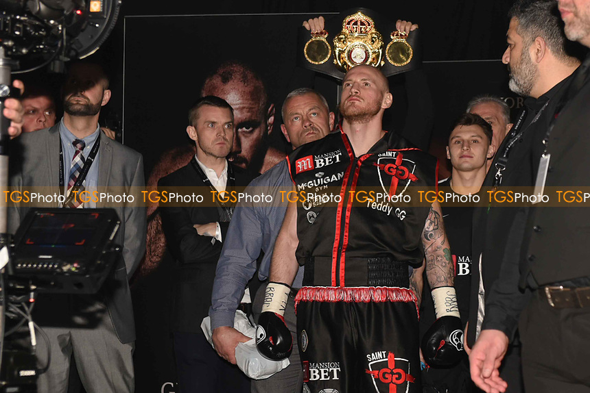 George Groves makes his way to the ring ahead of his fight with Chris Eubank Jr during a Boxing Show at the Manchester Arena on 17th February 2018
