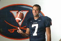 UVa football quarterback Matt Schuab for the Virginia Cavaliers playing in Scott Stadium at the University of Virginia in Charlottesville, VA. Photo/Andrew Shurtleff.