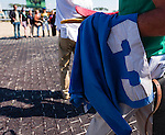OLDSMAR, FL - JANUARY 21: Saddle cloth of The Money Monster #3, and the team in the background in the winners circle, after winning the Pasco Stakes, on Skyway Festival Day at Tampa Bay Downs on January 21, 2017 in Oldsmar, Florida. (Photo by Douglas DeFelice/Eclipse Sportswire/Getty Images)