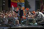 Coronation ceremony in Madrid. King Felipe VI of Spain and Queen Letizia of Spain leave Congreso de los Diputados. June 19 ,2014. (ALTERPHOTOS/EFE/Pool)