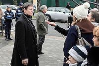 Francis Huster - Obseques de Michele Morgan - Service religieux en l'Èglise Saint-Pierre de Neuilly-sur-Seine le 23 decembre 2016