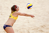 April Ross, of the United States, in action at the Beach Volleyball World Tour Grand Slam, Foro Italico, Rome, 22 June 2013. United States defeated Italy 2-0.<br /> UPDATE IMAGES PRESS/Isabella Bonotto