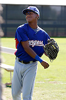 Teodoro Martinez - Texas Rangers 2009 Instructional League.Photo by:  Bill Mitchell/Four Seam Images..