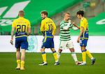 Celtic v St Johnstone…12.05.21  SPFL Celtic Park<br />Alex Ferguson fist bumps Leigh Griffiths at full time<br />Picture by Graeme Hart.<br />Copyright Perthshire Picture Agency<br />Tel: 01738 623350  Mobile: 07990 594431