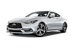 Stock pictures of low aggressive front three quarter view of 2017 Infiniti Q60 Premium 2 Door Coupe Low Aggressive