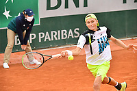 8th October 2020, Roland Garros, Paris, France; French Open tennis, Roland Garros 2020;  Riedi - Sui