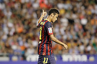 FC Barcelona's Neymar Santos Jr during La Liga match.September 1,2013. (ALTERPHOTOS/Acero) <br /> Football Calcio 2013/2014<br /> La Liga Spagna<br /> Foto Alterphotos / Insidefoto <br /> ITALY ONLY