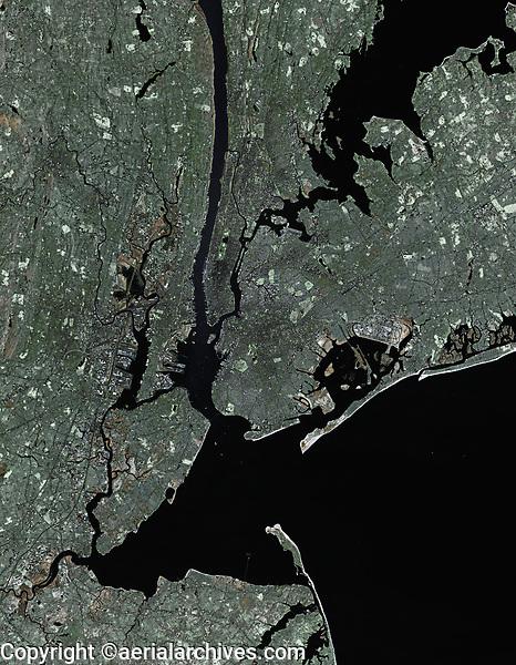 satellite view of the New York metropolitan area