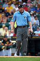Umpire Will Little during a Pittsburgh Pirates Spring Training game against the Toronto Blue Jays  on March 3, 2016 at McKechnie Field in Bradenton, Florida.  Toronto defeated Pittsburgh 10-8.  (Mike Janes/Four Seam Images)