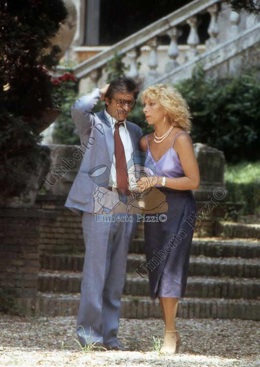 GIANCARLO GIANNINI CON MARIANGELA MELATO<br /> ROMA 1981