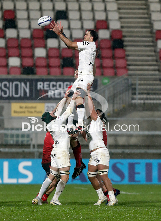 11 December 2020; Rory Arnold during the Heineken Champions Cup Pool B Round 1 match between Ulster and Toulouse at Kingspan Stadium in Belfast. Photo by John Dickson/Dicksondigital