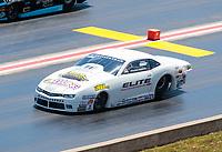 Jul 21, 2019; Morrison, CO, USA; NHRA pro stock driver Richard Freeman during the Mile High Nationals at Bandimere Speedway. Mandatory Credit: Mark J. Rebilas-USA TODAY Sports
