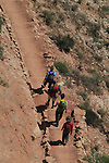 Backpackers hiking down the South Kaibab Trail to the Colorado River and Phantom Ranch Campground, Grand Canyon National Park, northern Arizona, USA . John offers private photo tours in Grand Canyon National Park and throughout Arizona, Utah and Colorado. Year-round.