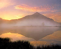 Crested Butte and Peanut Lake at sunrise in Gunnison County Colorado