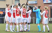 Beerschot Dames - AJAX Amsterdam Dames : aanmoedigingen bij de Amsterdamse speelsters.foto JOKE VUYLSTEKE / Vrouwenteam.be